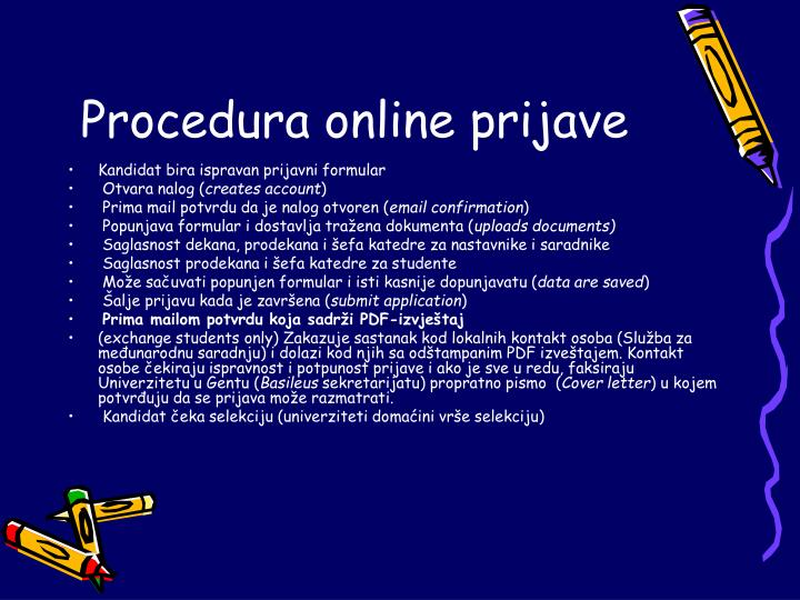 Procedura online prijave