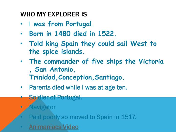 Who my explorer is