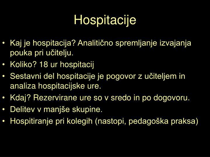 Hospitacije