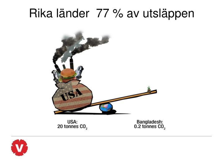 Rika länder  77 % av utsläppen