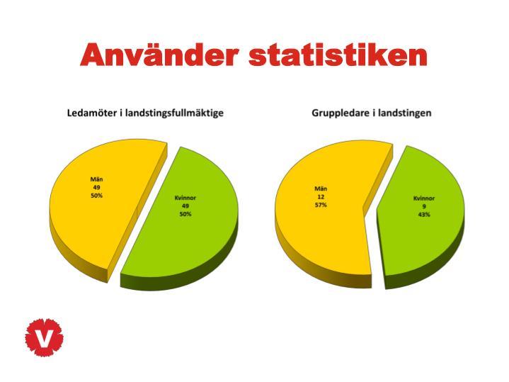 Använder statistiken