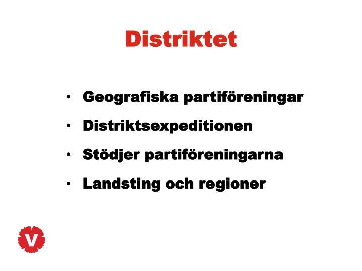 Distriktet