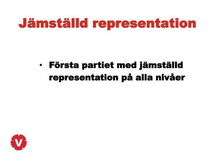 Jämställd representation