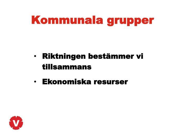 Kommunala grupper