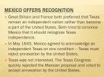 mexico offers recognition