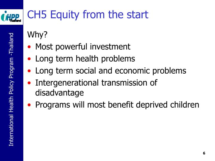 CH5 Equity from the start