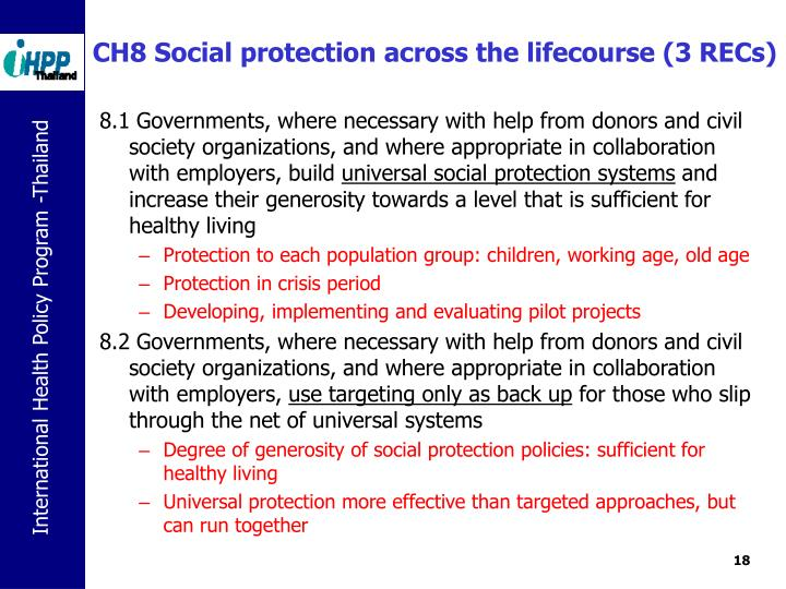 CH8 Social protection across the lifecourse (3 RECs)