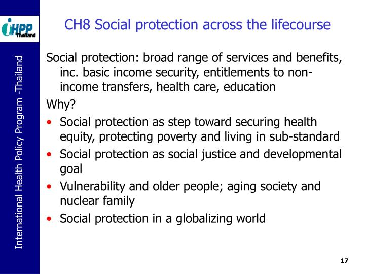 CH8 Social protection across the lifecourse