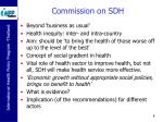 commission on sdh