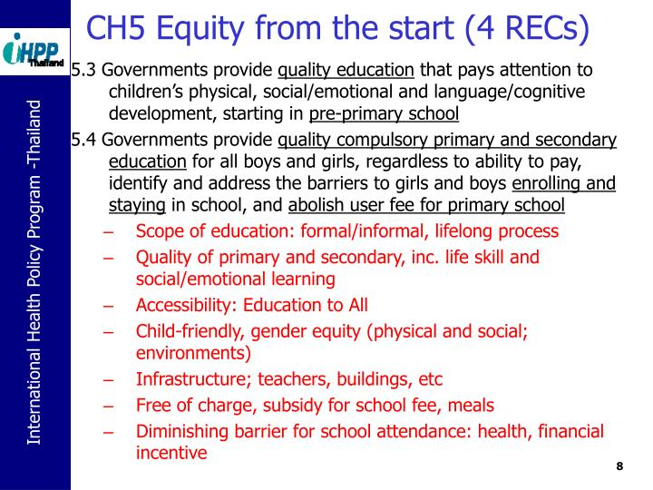 CH5 Equity from the start (4 RECs)
