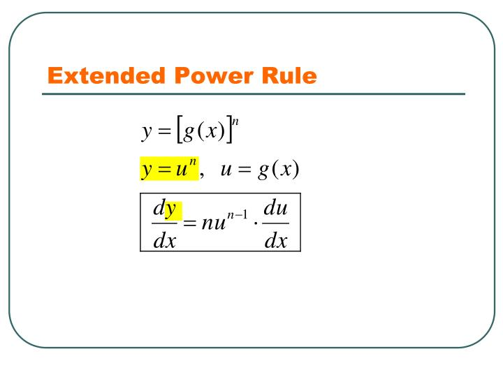 Extended Power Rule