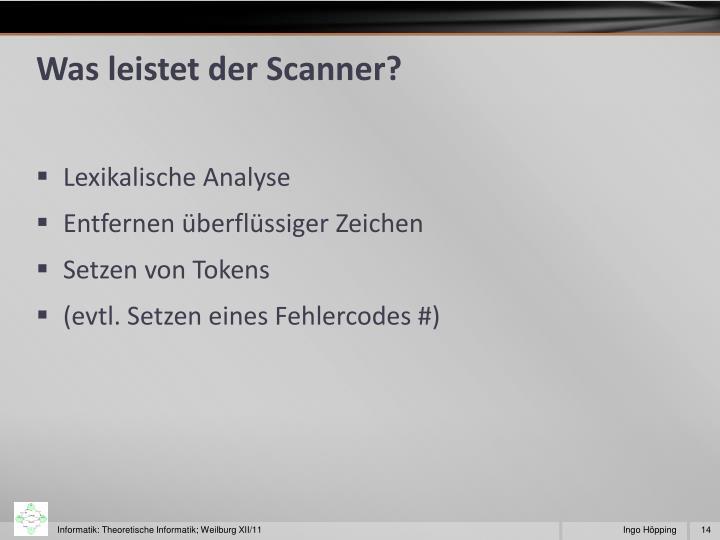 Was leistet der Scanner?