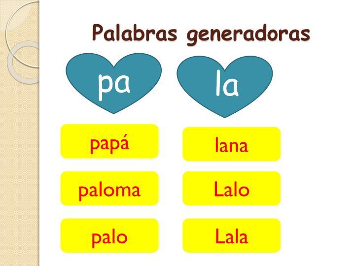 Palabras generadoras