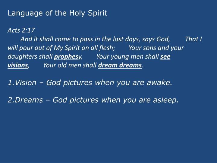 Language of the Holy Spirit