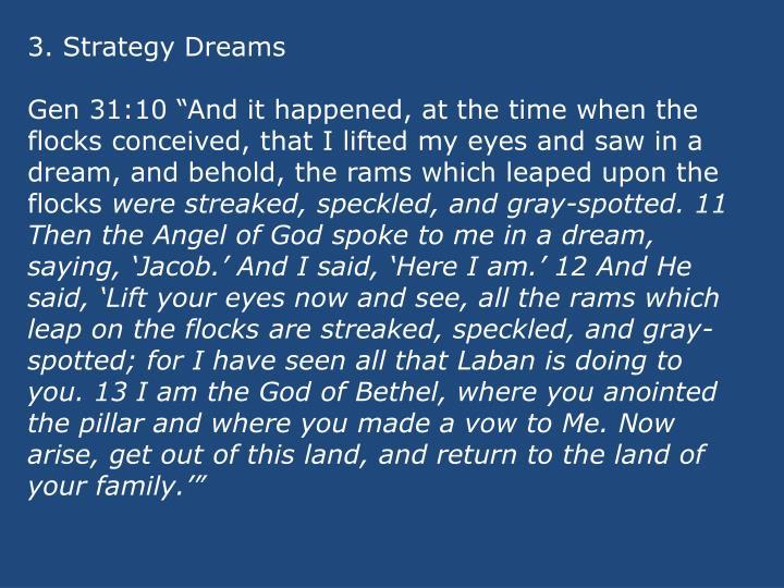 3. Strategy Dreams