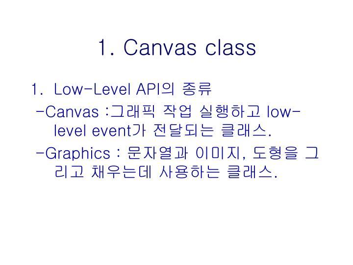 1. Canvas class