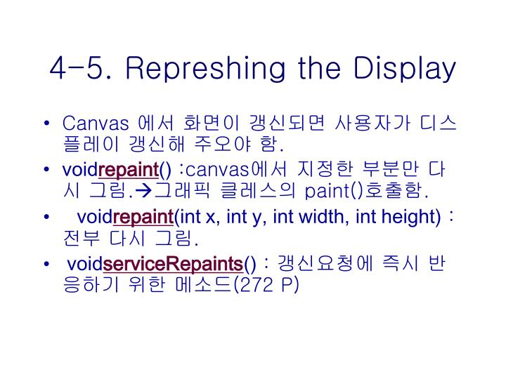 4-5. Represhing the Display