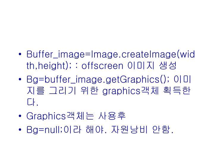 Buffer_image=Image.createImage(width,height); : offscreen