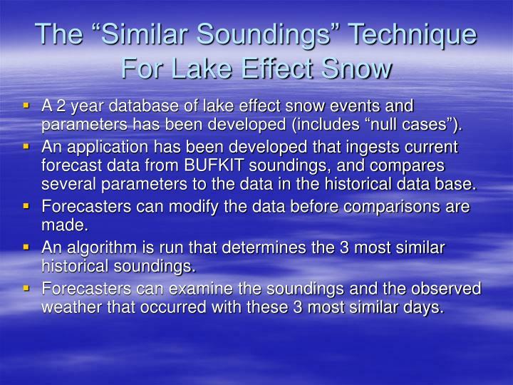 "The ""Similar Soundings"" Technique For Lake Effect Snow"