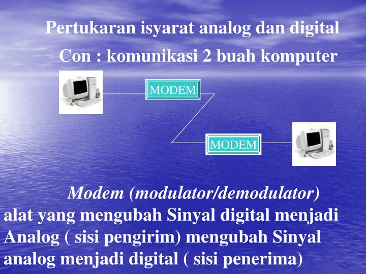 Pertukaran isyarat analog dan digital