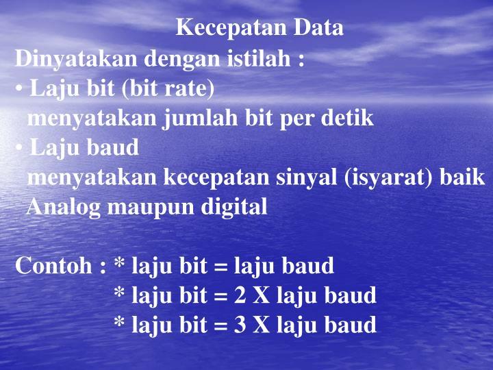 Kecepatan Data