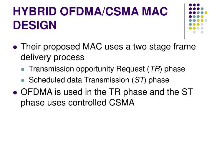 HYBRID OFDMA/CSMA MAC DESIGN
