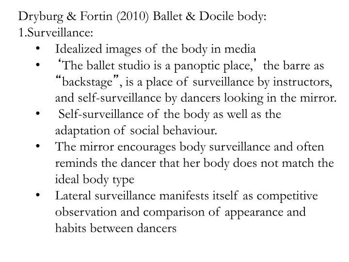 Dryburg & Fortin (2010) Ballet & Docile body: