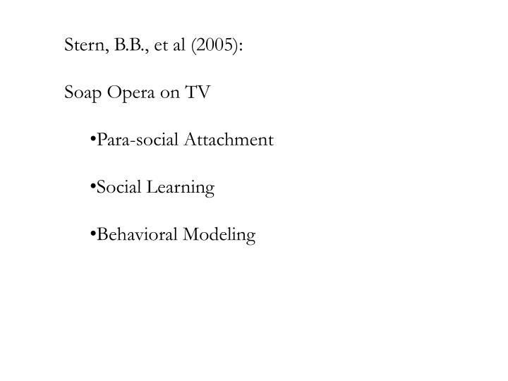 Stern, B.B., et al (2005):