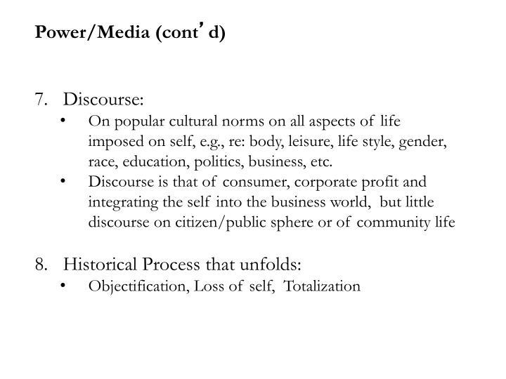 Power/Media (cont