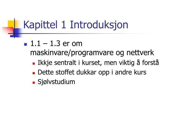 Kapittel 1 Introduksjon
