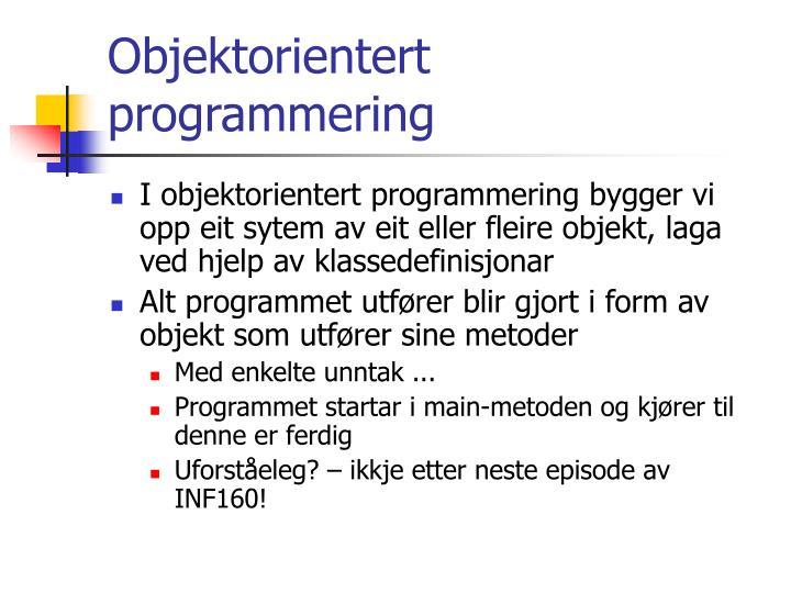 Objektorientert programmering