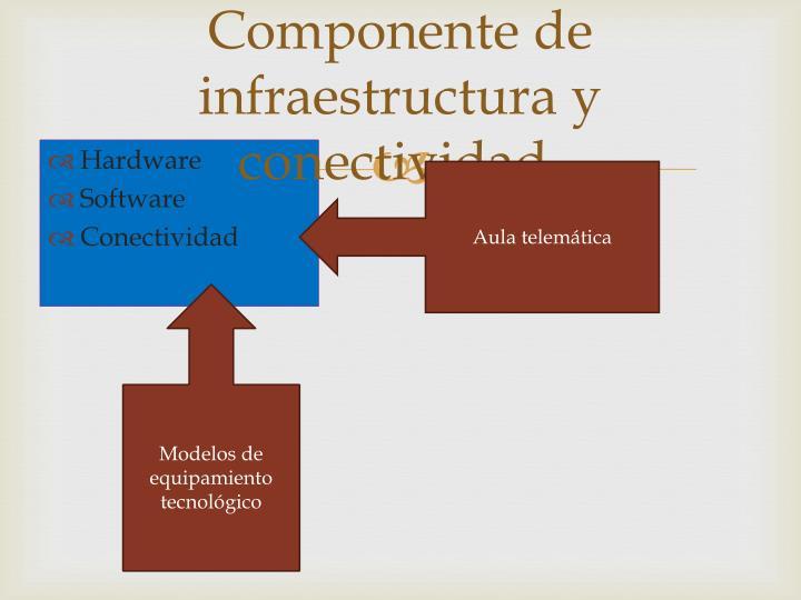 Componente de infraestructura y conectividad.