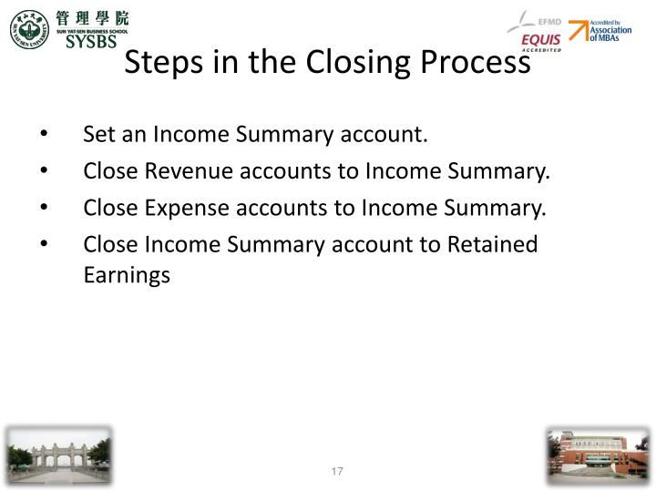 Steps in the Closing Process