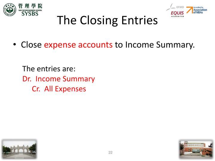The Closing Entries