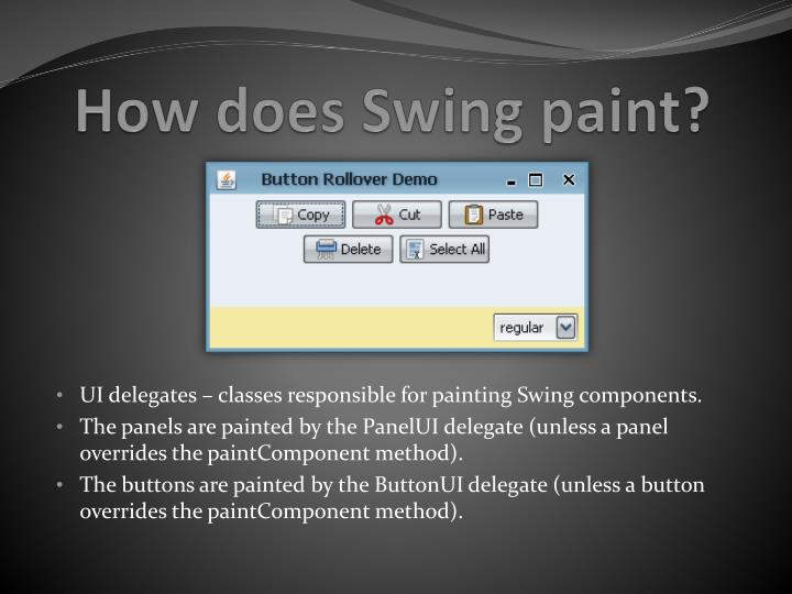 How does Swing paint?