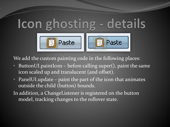 Icon ghosting - details