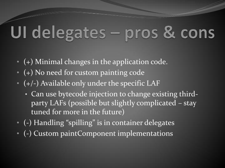 UI delegates