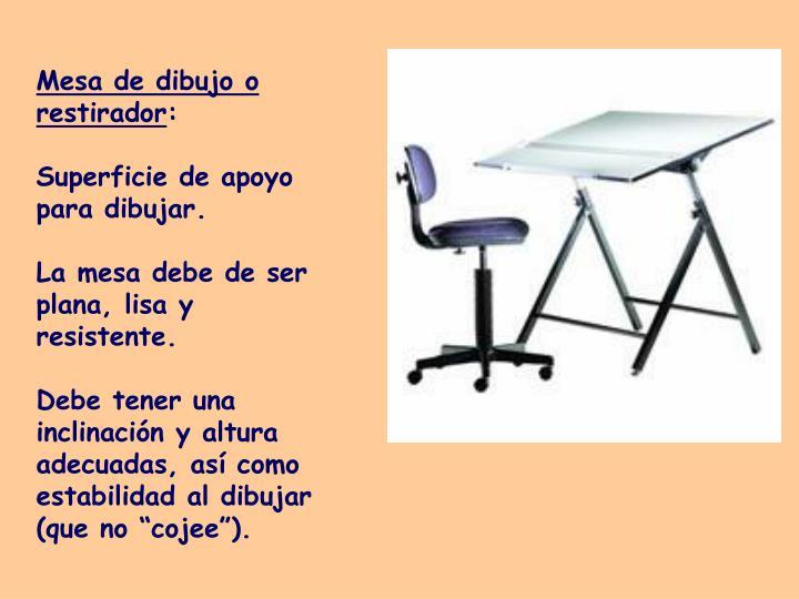 Mesa de dibujo o restirador