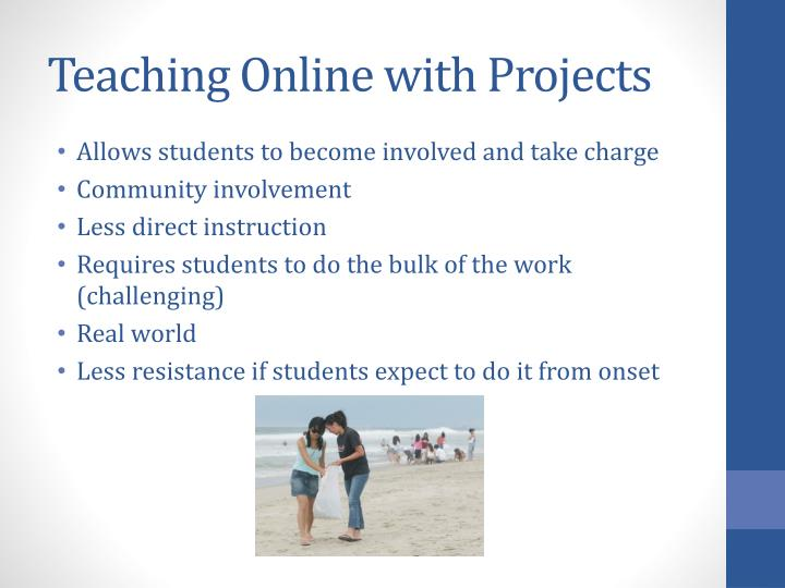 Teaching Online with Projects