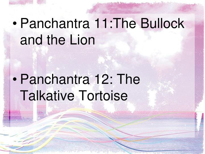 Panchantra 11:The Bullock and the