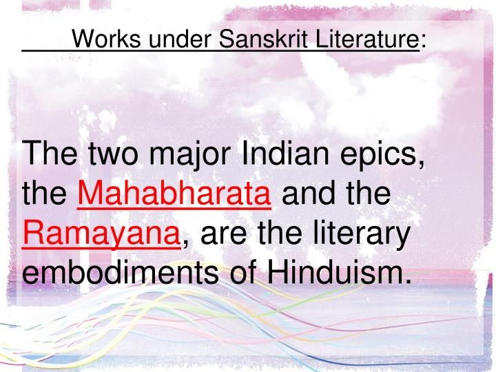 Works under Sanskrit Literature
