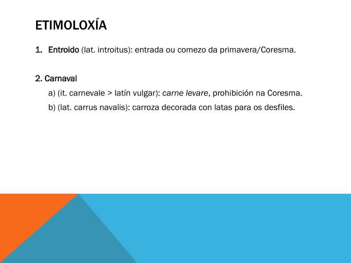 Etimoloxía