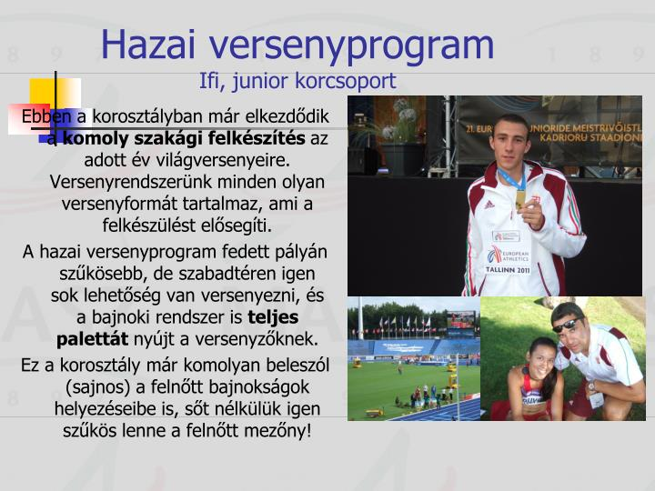 Hazai versenyprogram