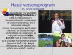 hazai versenyprogram ifi junior korcsoport