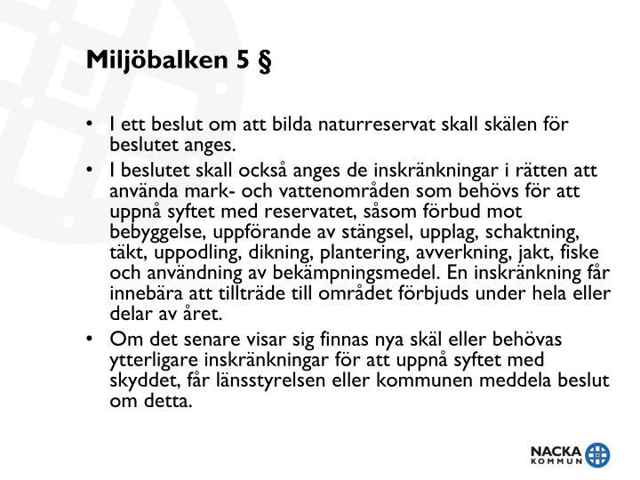 Miljöbalken 5 §