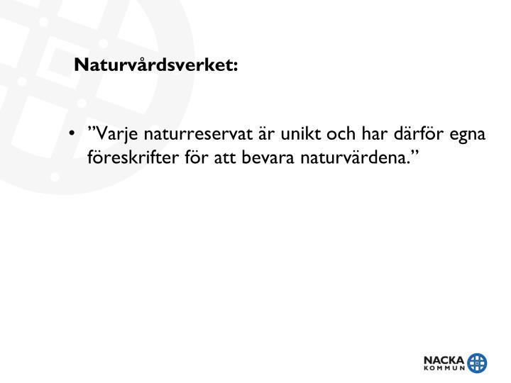 Naturvårdsverket: