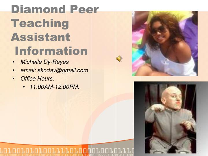Diamond Peer Teaching Assistant