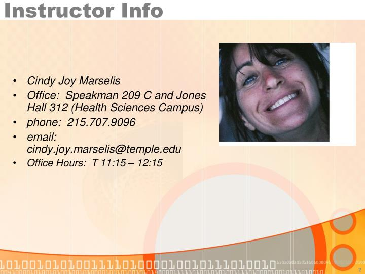 Instructor Info