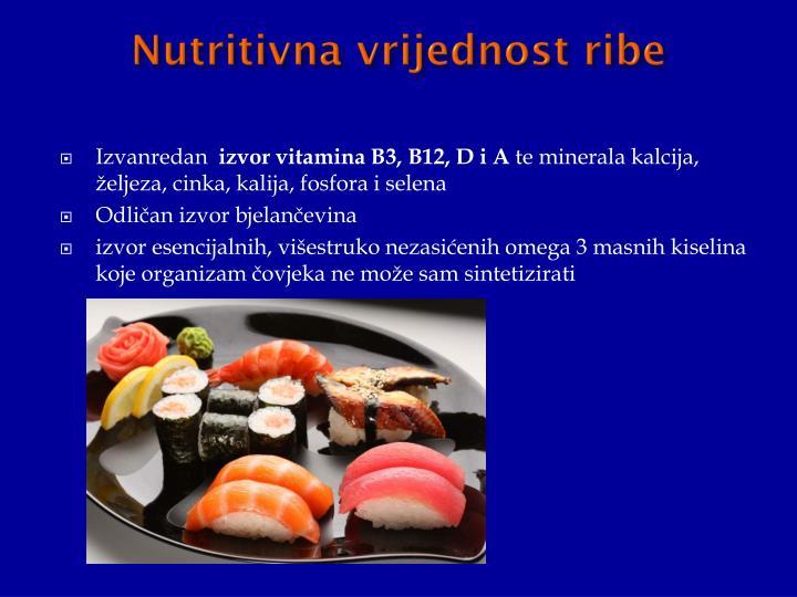 Nutritivna vrijednost ribe