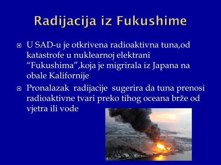 Radijacija iz Fukushime